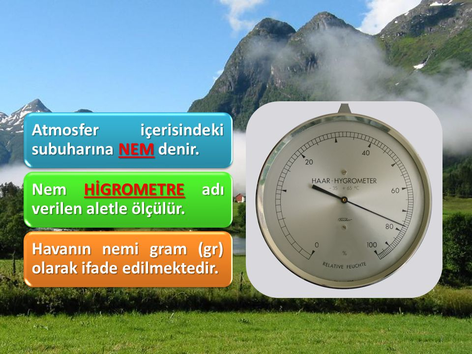 Atmosfer içerisindeki subuharına NEM denir.