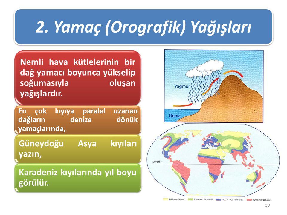 2. Yamaç (Orografik) Yağışları