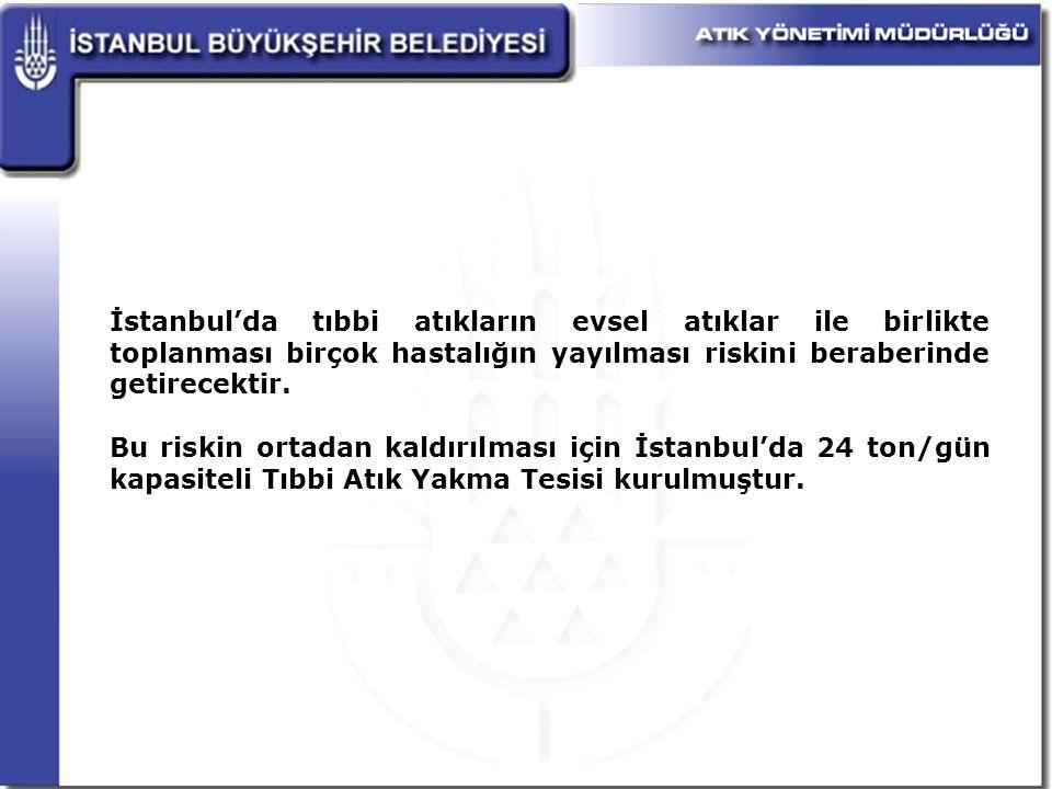 İstanbul'da tıbbi atıkların evsel atıklar ile birlikte toplanması birçok hastalığın yayılması riskini beraberinde getirecektir.
