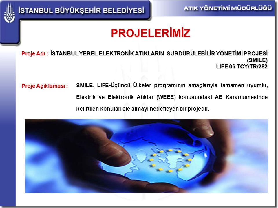 PROJELERİMİZ Proje Adı : Proje Açıklaması :