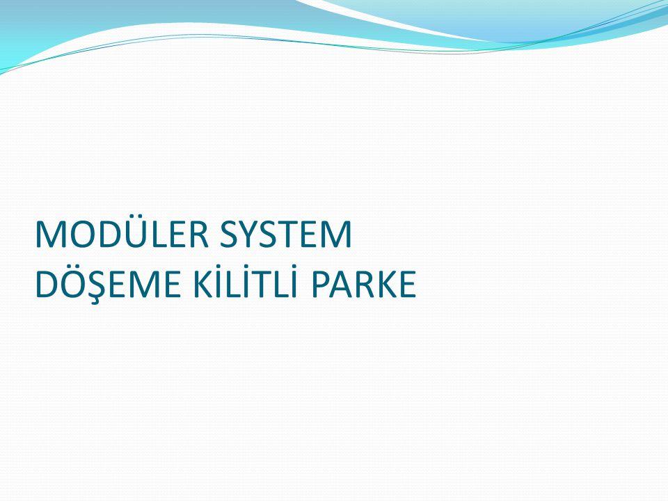 MODÜLER SYSTEM DÖŞEME KİLİTLİ PARKE