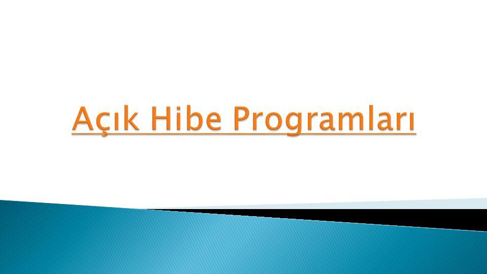 Açık Hibe Programları
