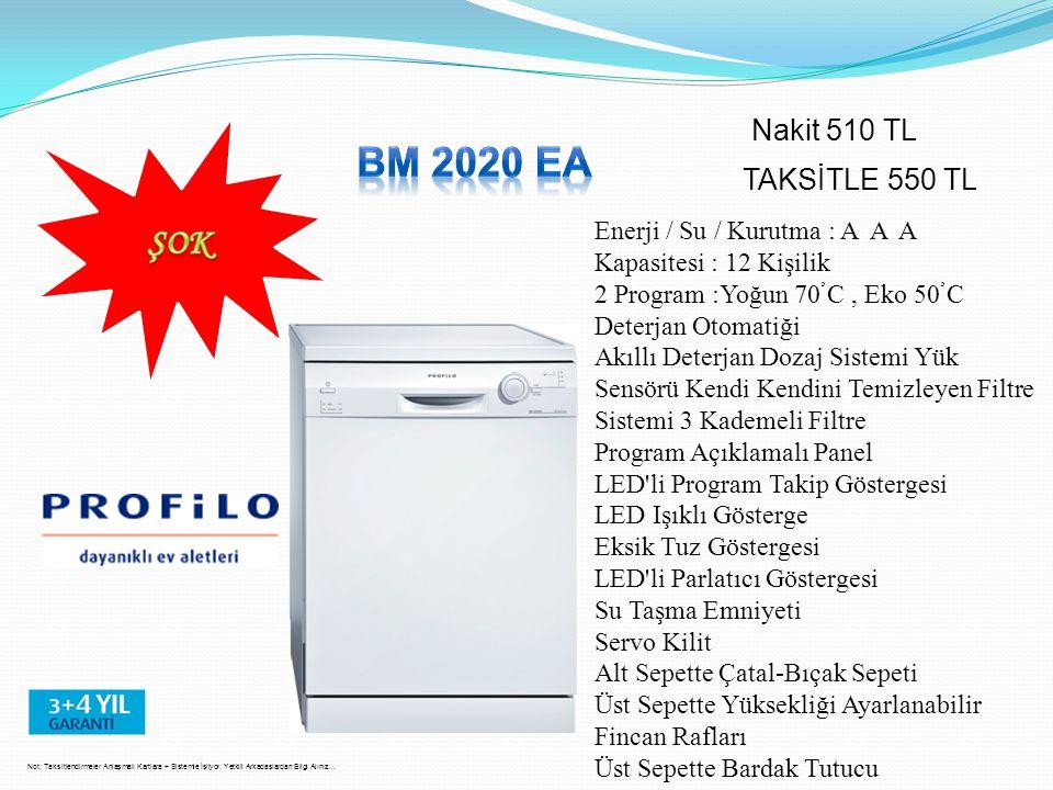 BM 2020 EA ŞOK Nakit 510 TL TAKSİTLE 550 TL
