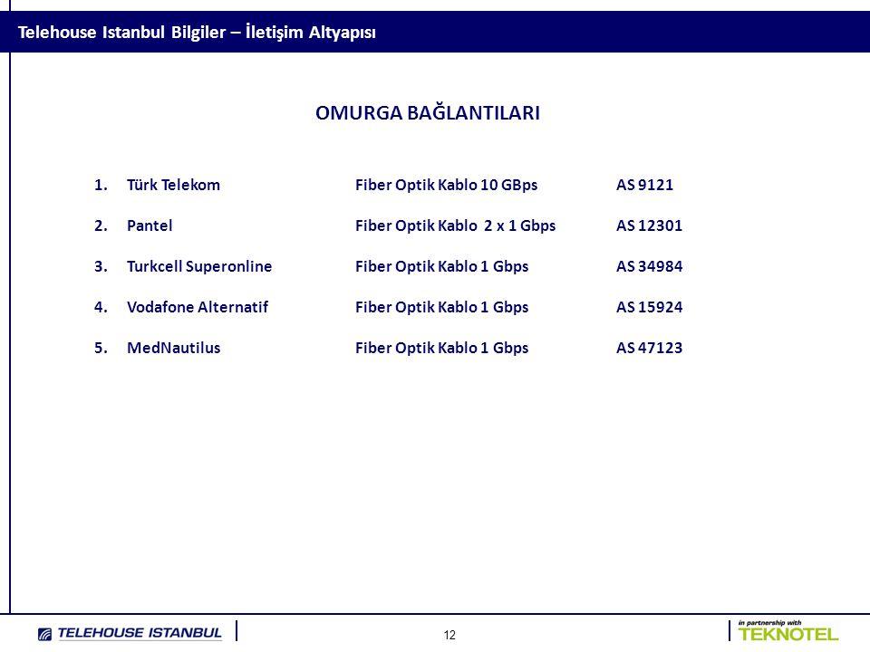 OMURGA BAĞLANTILARI Telehouse Istanbul Bilgiler – İletişim Altyapısı