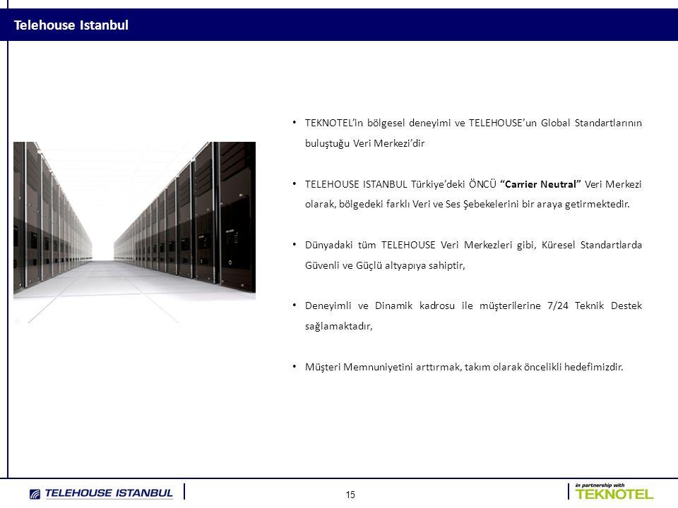 Telehouse Istanbul TEKNOTEL'in bölgesel deneyimi ve TELEHOUSE'un Global Standartlarının buluştuğu Veri Merkezi'dir.