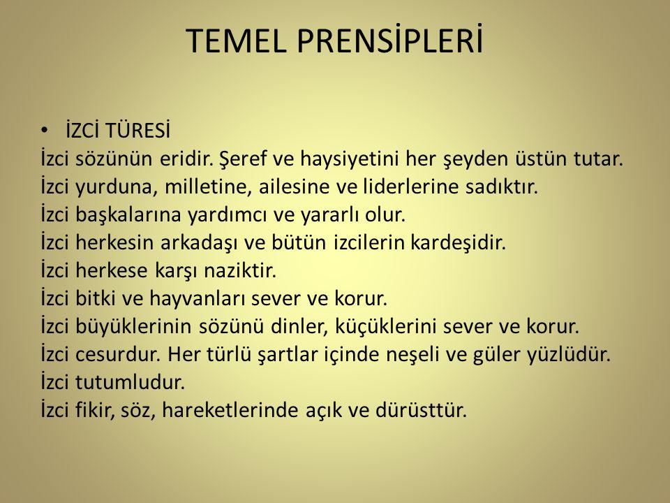 TEMEL PRENSİPLERİ İZCİ TÜRESİ