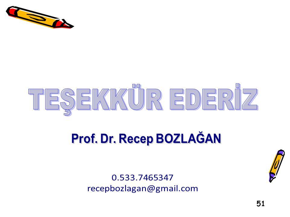 TEŞEKKÜR EDERİZ Prof. Dr. Recep BOZLAĞAN 0.533.7465347