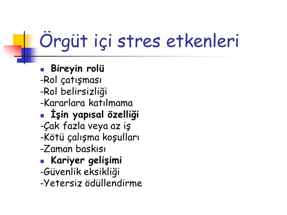 Örgüt içi stres etkenleri
