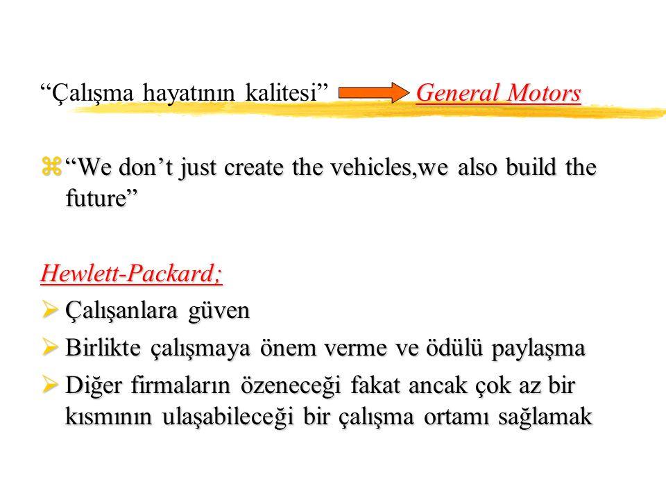 Çalışma hayatının kalitesi General Motors
