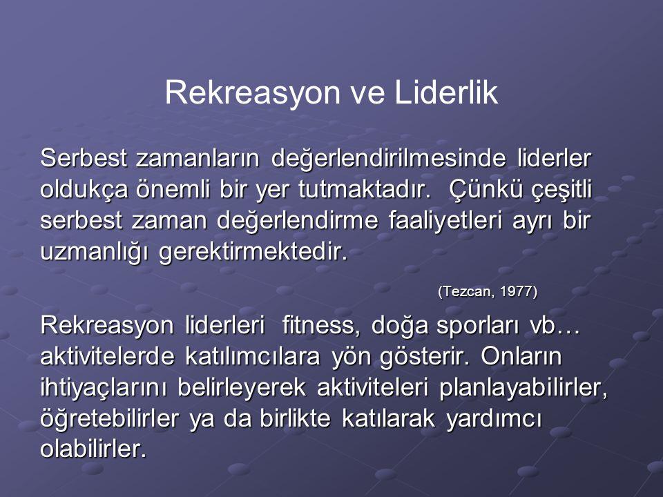Rekreasyon ve Liderlik