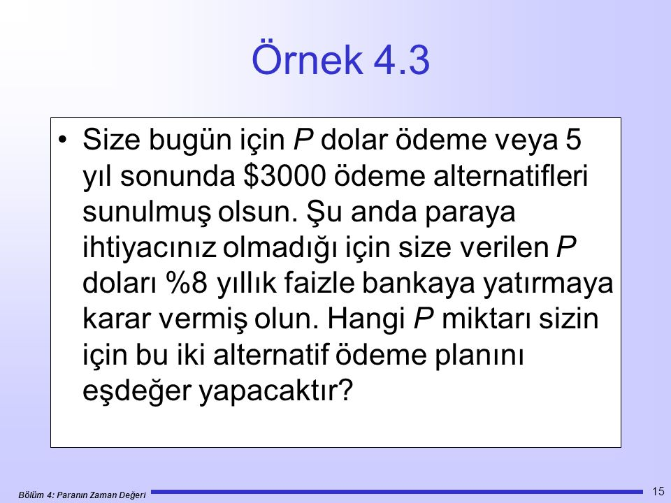 Örnek 4.3