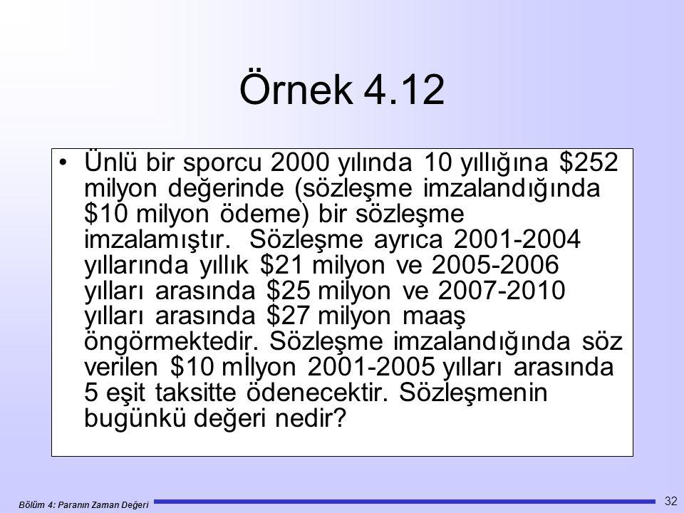 Örnek 4.12