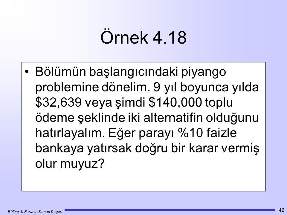 Örnek 4.18