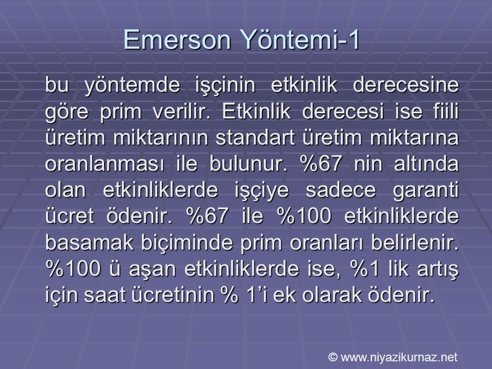 Emerson Yöntemi-1