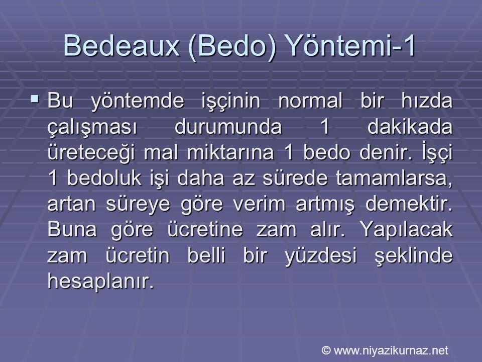 Bedeaux (Bedo) Yöntemi-1