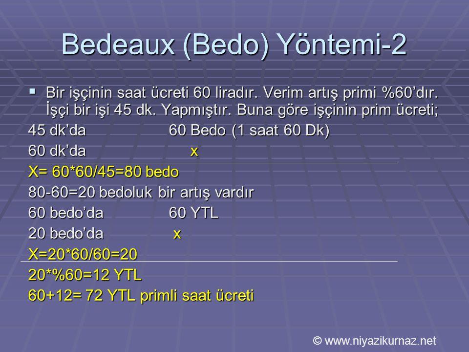 Bedeaux (Bedo) Yöntemi-2