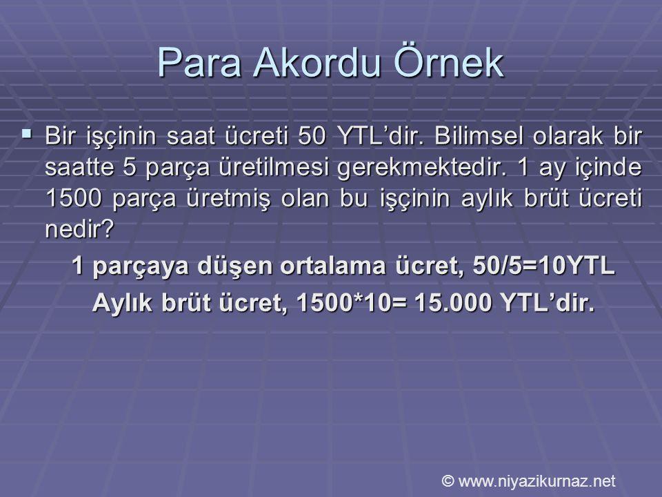 Aylık brüt ücret, 1500*10= 15.000 YTL'dir.