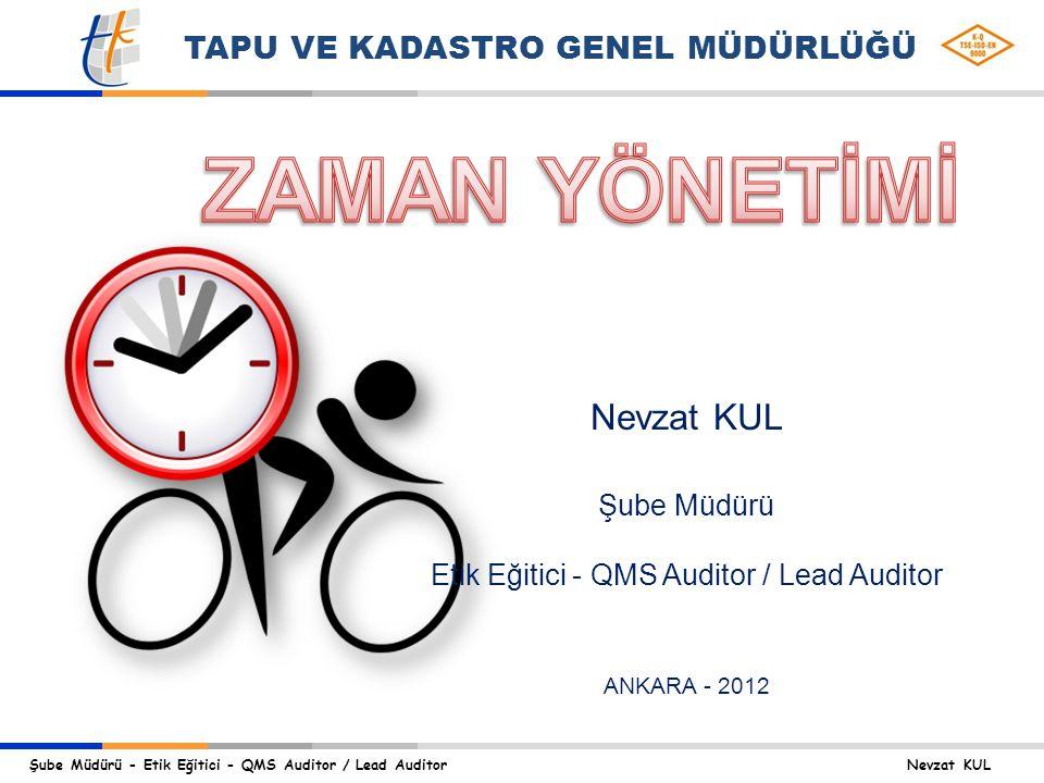 Etik Eğitici - QMS Auditor / Lead Auditor