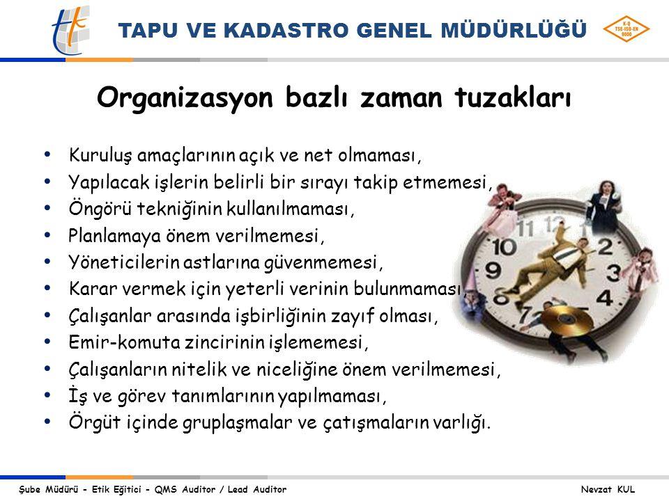 Organizasyon bazlı zaman tuzakları