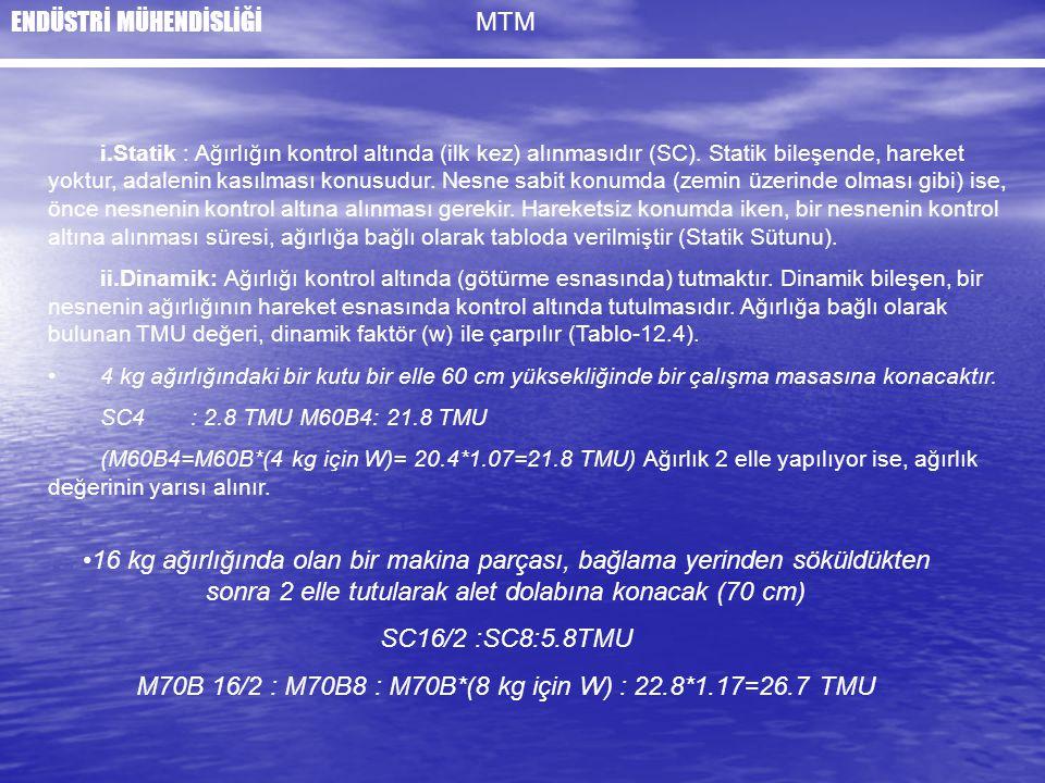 M70B 16/2 : M70B8 : M70B*(8 kg için W) : 22.8*1.17=26.7 TMU