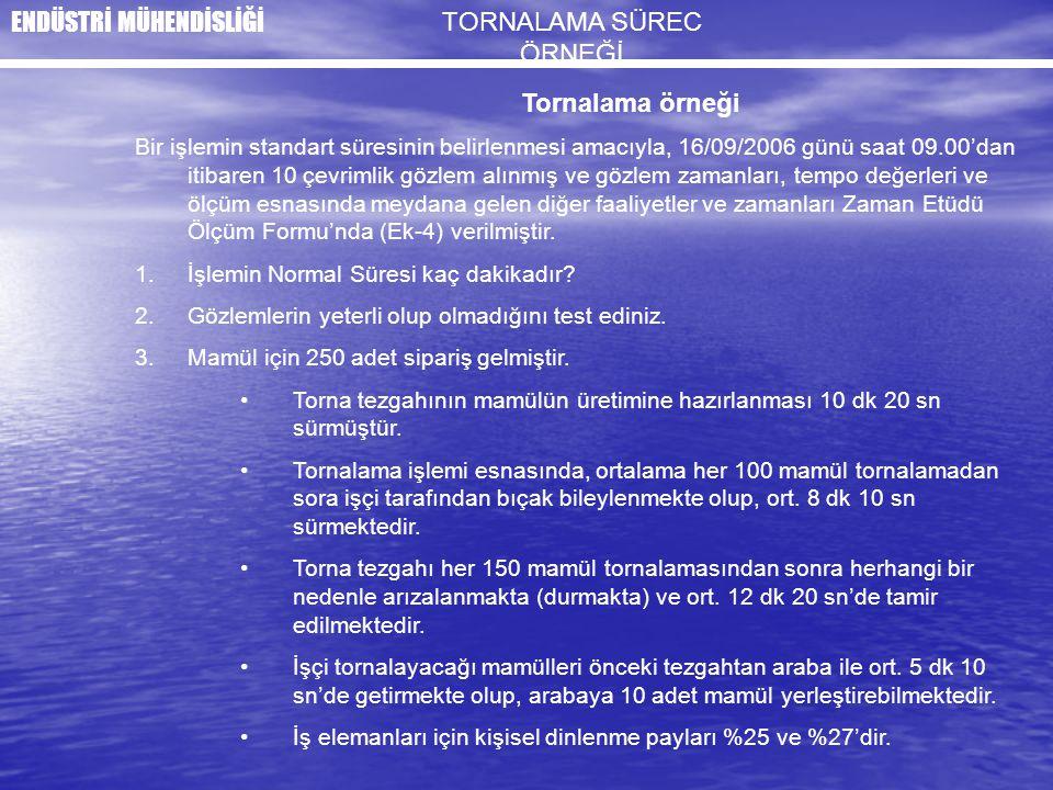 TORNALAMA SÜREC ÖRNEĞİ