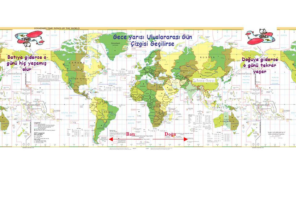 Gece yarısı Uluslararası Gün Çizgisi Geçilirse