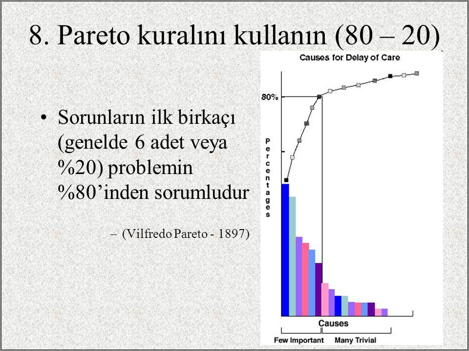 8. Pareto kuralını kullanın (80 – 20)