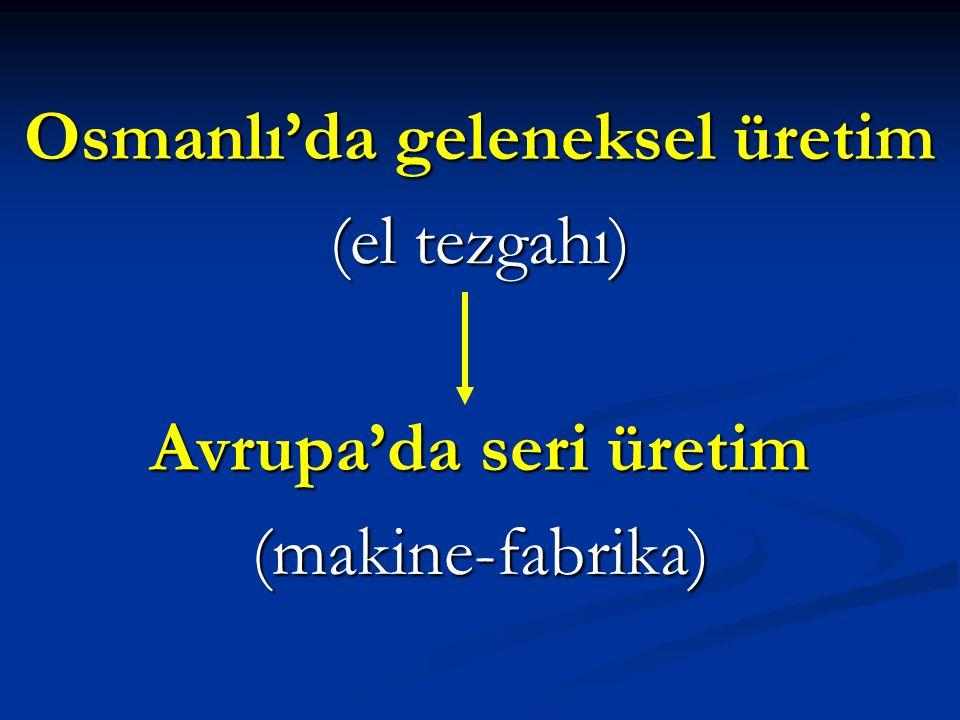 Osmanlı'da geleneksel üretim