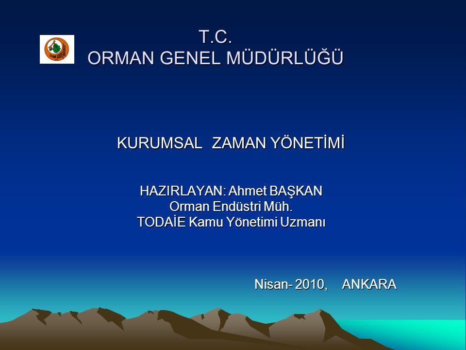 T.C. ORMAN GENEL MÜDÜRLÜĞÜ