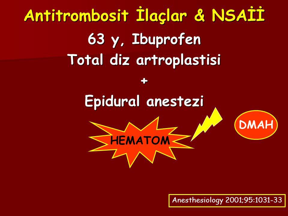 Antitrombosit İlaçlar & NSAİİ