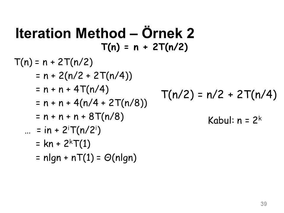 Iteration Method – Örnek 2