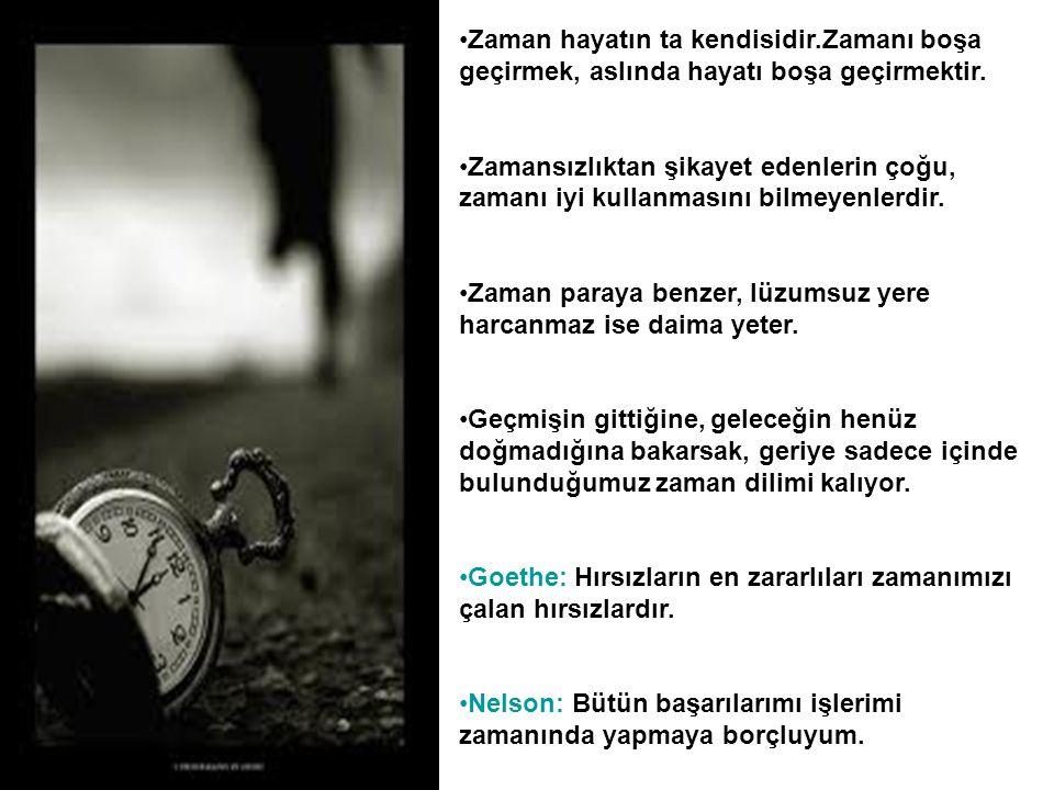 Zaman hayatın ta kendisidir