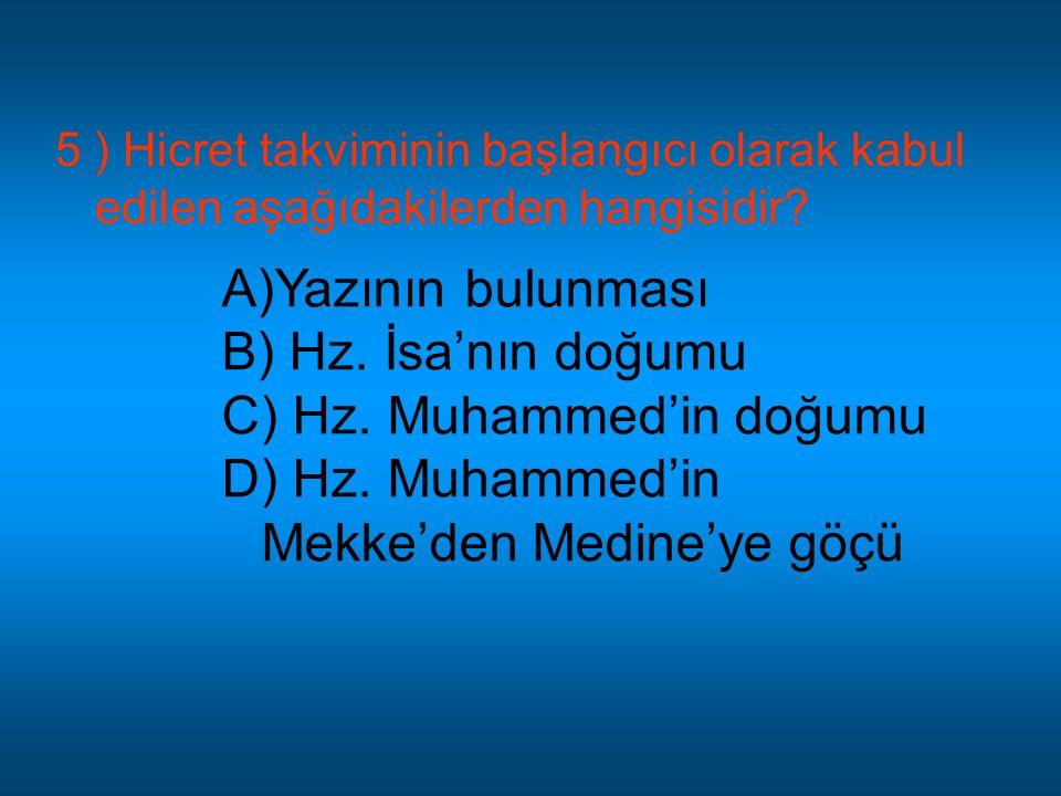 Hz. Muhammed'in Mekke'den Medine'ye göçü