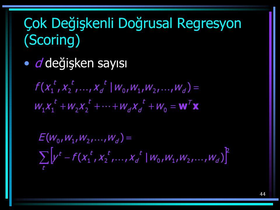 Çok Değişkenli Doğrusal Regresyon (Scoring)