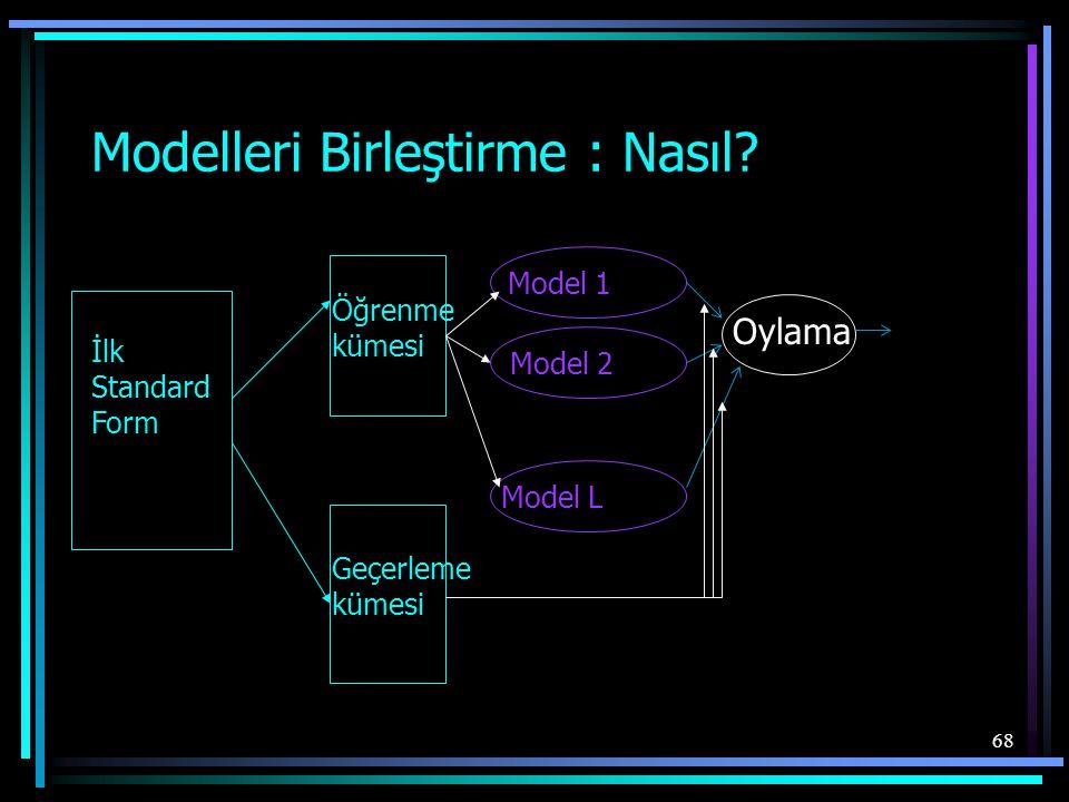 Modelleri Birleştirme : Nasıl