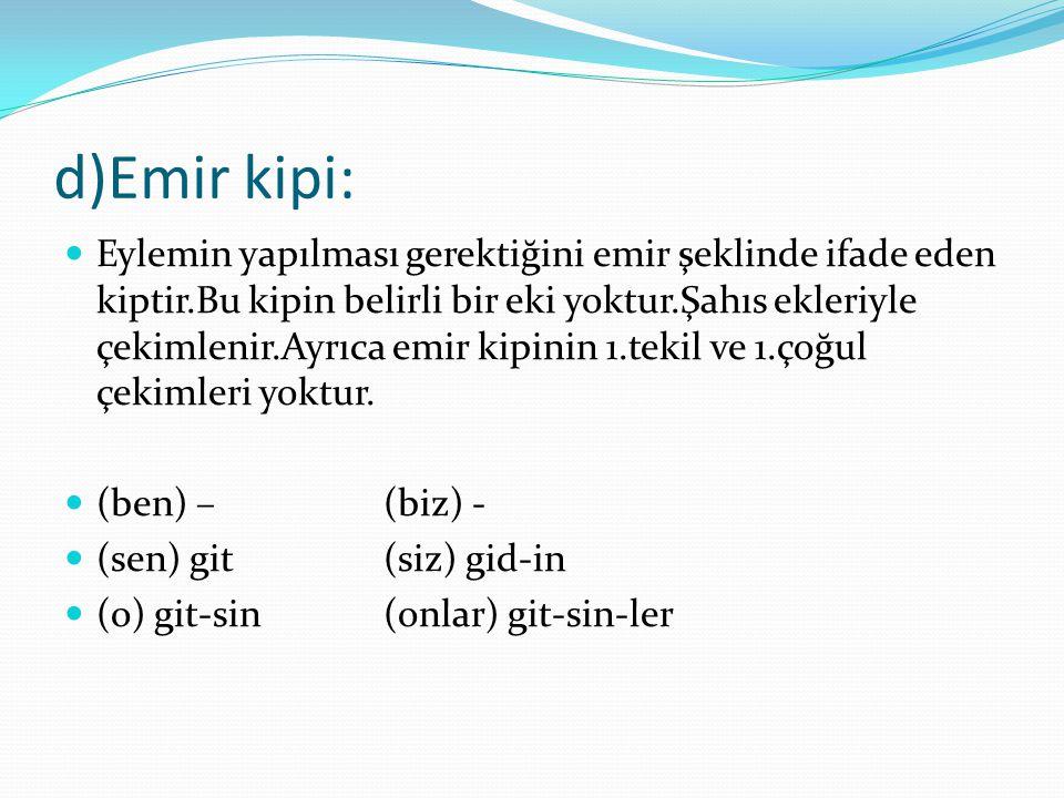 d)Emir kipi: