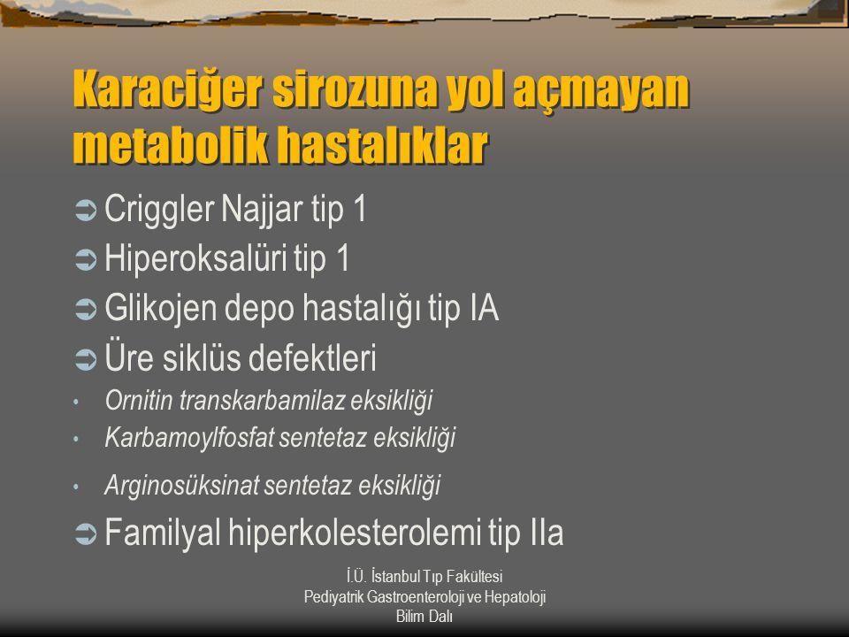 Karaciğer sirozuna yol açmayan metabolik hastalıklar