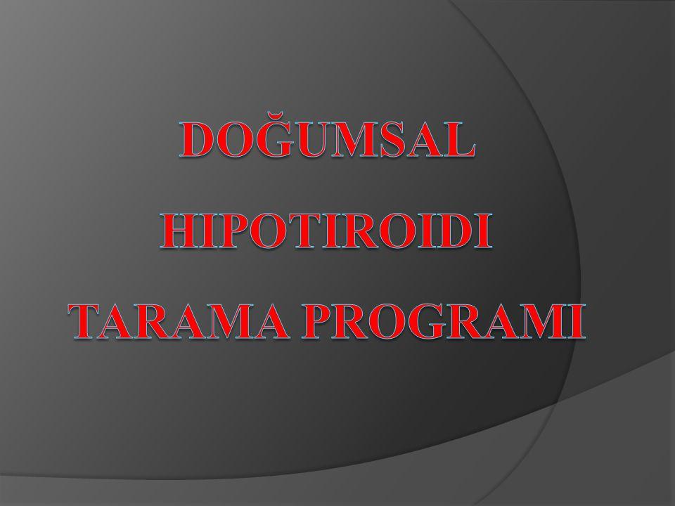 Doğumsal Hipotiroidi Tarama ProgramI