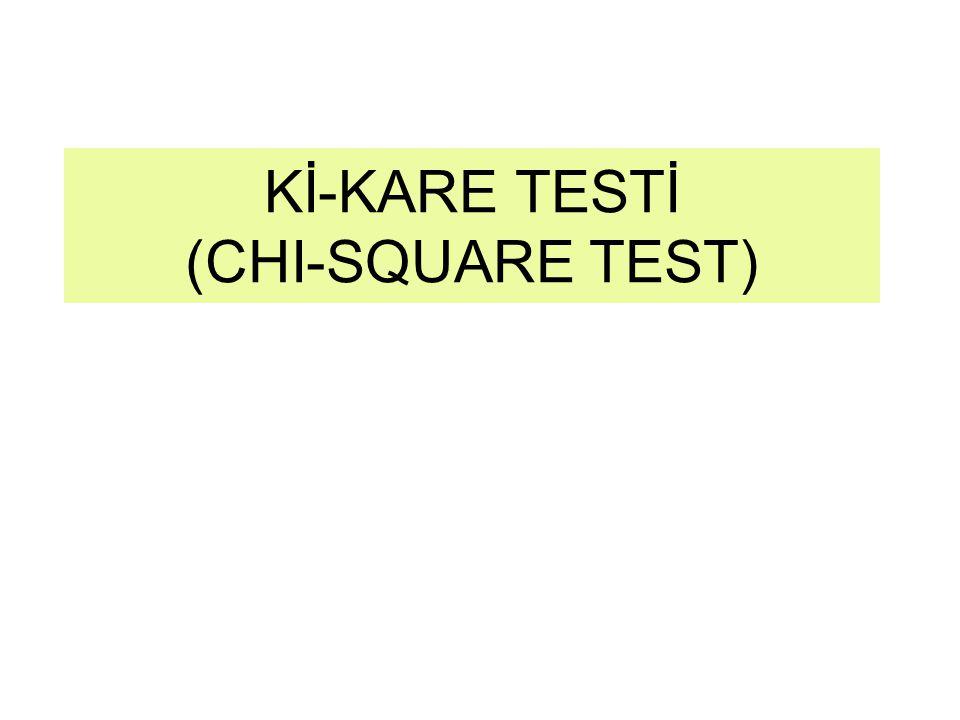 Kİ-KARE TESTİ (CHI-SQUARE TEST)