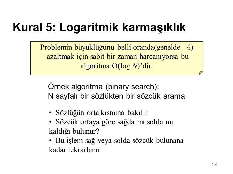 Kural 5: Logaritmik karmaşıklık