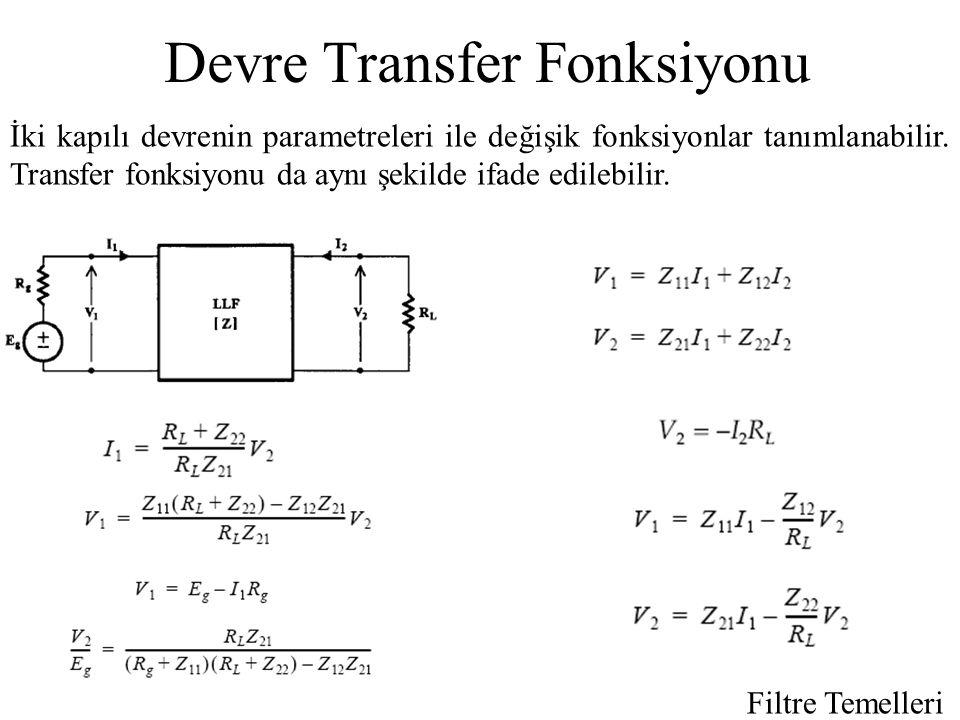 Devre Transfer Fonksiyonu