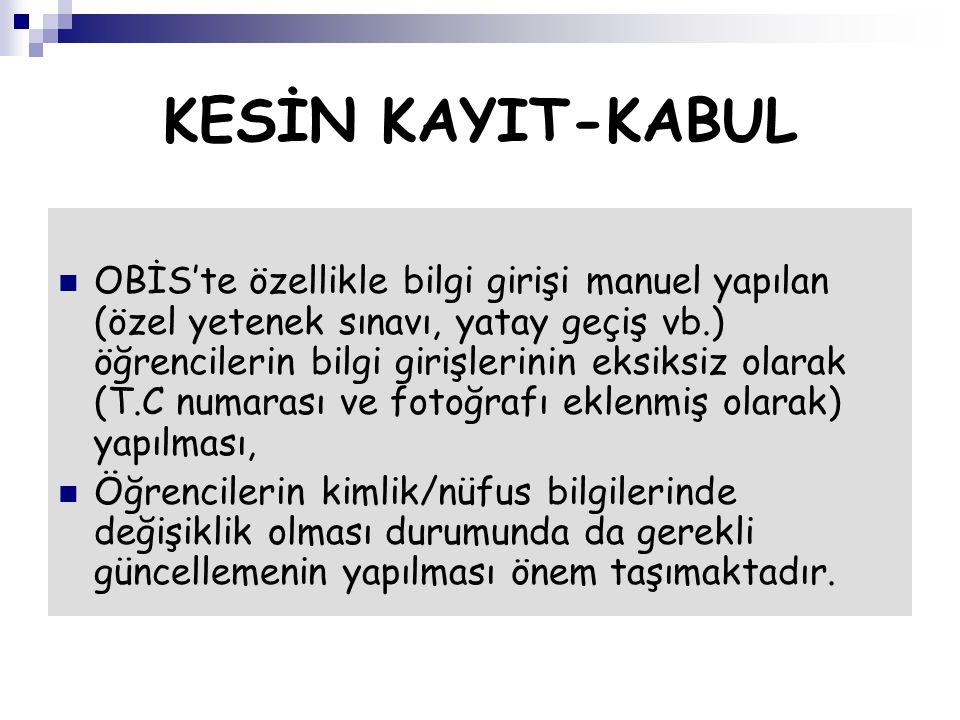 KESİN KAYIT-KABUL