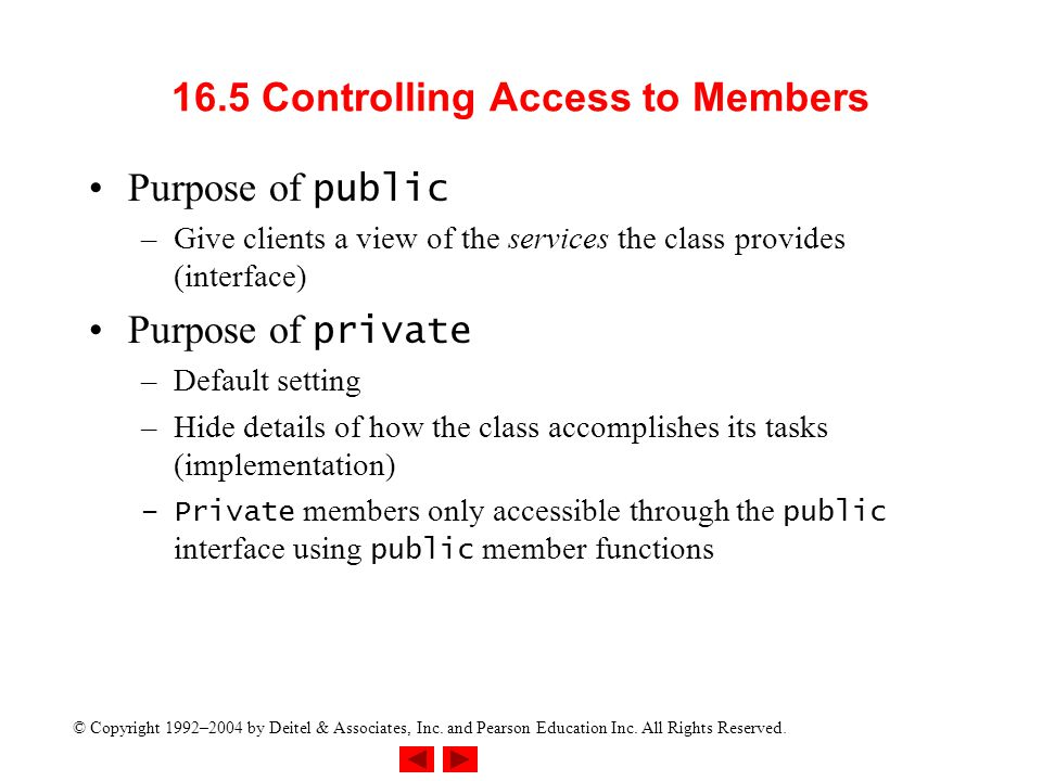 16.5 Controlling Access to Members