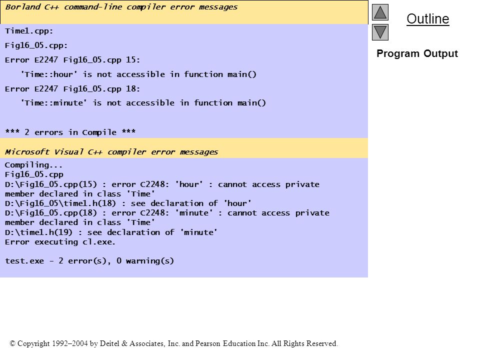 Borland C++ command-line compiler error messages