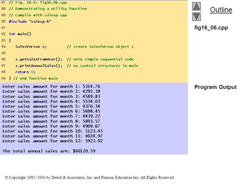 fig16_06.cpp Program Output