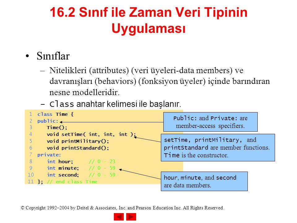 16.2 Sınıf ile Zaman Veri Tipinin UyguIaması