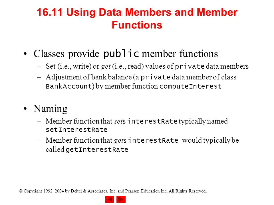 16.11 Using Data Members and Member Functions