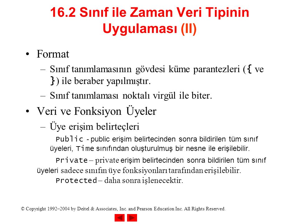16.2 Sınıf ile Zaman Veri Tipinin UyguIaması (II)