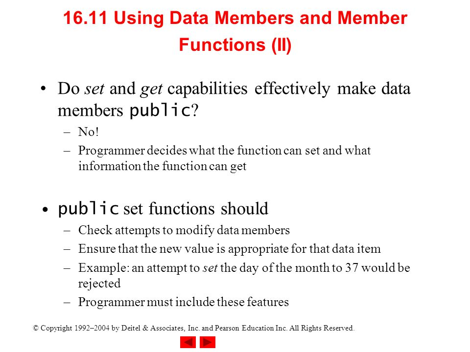 16.11 Using Data Members and Member Functions (II)
