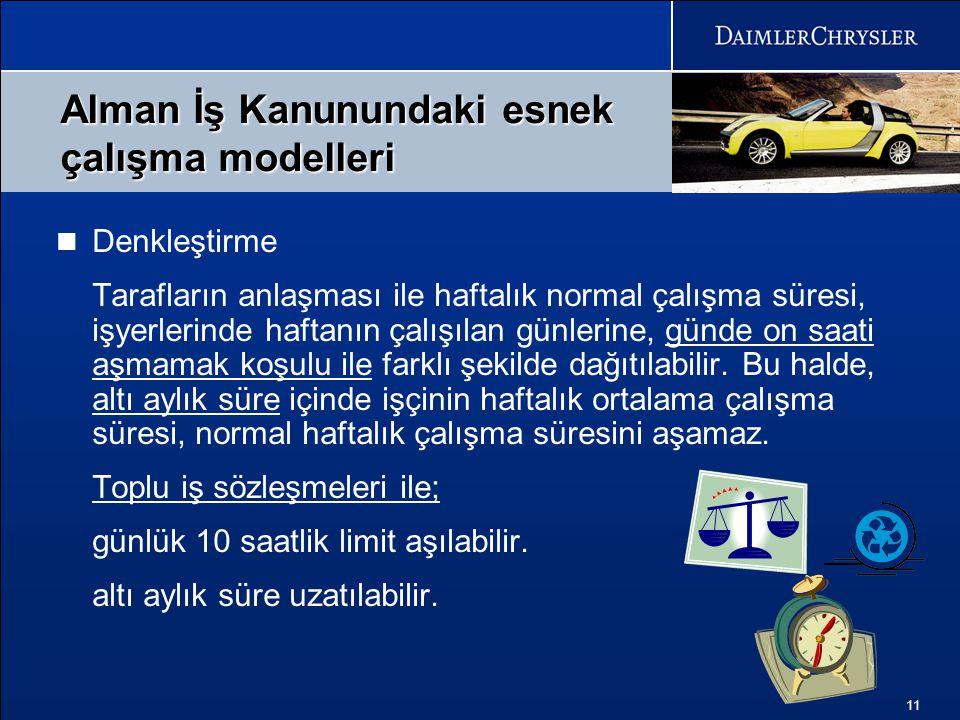 Alman İş Kanunundaki esnek çalışma modelleri